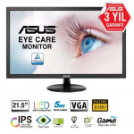 ASUS VP228DE Gaming 21.5″ LED 5ms 60Hz 1920×1080 FullHD VGA (VESA) Siyah Monitör