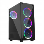 FRISBY FC-9335G 600W 80+ Bronze Siyah Dual-Ring RGB Fan Mid Tower